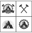 Mining Industry Label or Badge vector image
