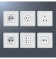 Set of electrical socket different contries vector image