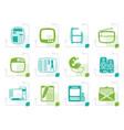 stylized media icons vector image