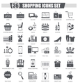 finance Shopping e-commerce black icon set vector image
