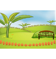 An empty park vector image