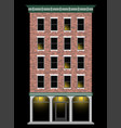 a classic american brick multi-storey house at vector image