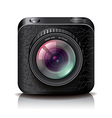 object camera apps icon black vector image