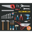 Modern hand tools instruments collection vector image