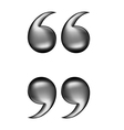 quotation black vector image vector image