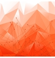 Background with Red Polygonal Abstract Shapes vector image