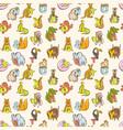 Funny zoo animals kids alphabet seamless pattern vector image