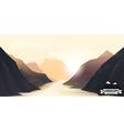 landscape mountain background eps 10 vector image