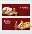 barber shop banners with mens fashion tools vector image