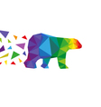 Bear abstract triangle vector image