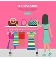 Clothing Store Set of Women Clothes Items vector image