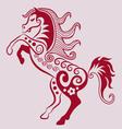 Horse ornament vector image