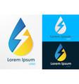 logo energy water vector image