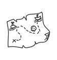 map icon Sketch design graphic vector image