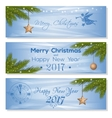 New Year 2017 design set Festive background for vector image