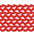 Seamless pattern with isometric paper planes vector image