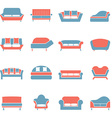 Sofa Icons Duotone vector image