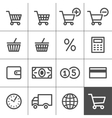 Shopping icons set - Simplines series vector image