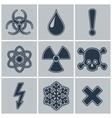 Icon set of warning symbols vector image