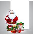 Santa claus christmas design vector image