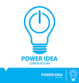 Power idea symbol icon vector image