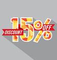 Discount 15 Percent Off vector image
