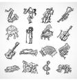 Jazz Icons Sketch vector image