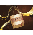 Brown Background with Chocolate Box vector image vector image