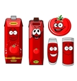 Red tomato vegetable and juice vector image vector image