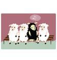 black sheep vector image