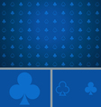 Clean Abstract Poker Background Blue Clubs vector image