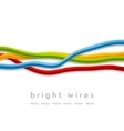 Isolated bright wires on white background vector image