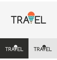 Travel logo with the geo tag vector image vector image