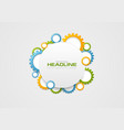 abstract tech colorful gears and blank circle vector image