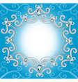 background with ornament with pearls and silver vector image