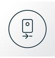 camera rear icon line symbol premium quality vector image