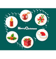 Christmas holiday dresses collection of icons 8 vector image
