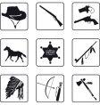 cowboy symbols vector image