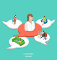 customer support flat isometric concept vector image