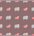 cute pig cartoon animal seamless pattern vector image