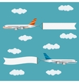 Flying planes with banners vector image