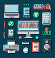 office electronic devices for business vector image