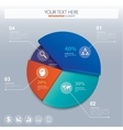 Pie chart - business statistics with icons vector image