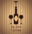 Wine design over beige background vector image