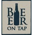 bottles of beer in retro style vector image
