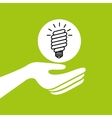 hands together environment bulb energy concept vector image