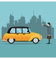 old cab car passenger user service public vector image