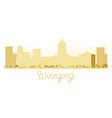 Winnipeg City skyline golden silhouette vector image