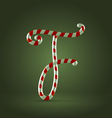 Candy cane abc f vector