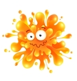Orange funny splash monster vector image